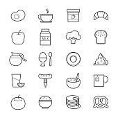 Breakfast Icons Line