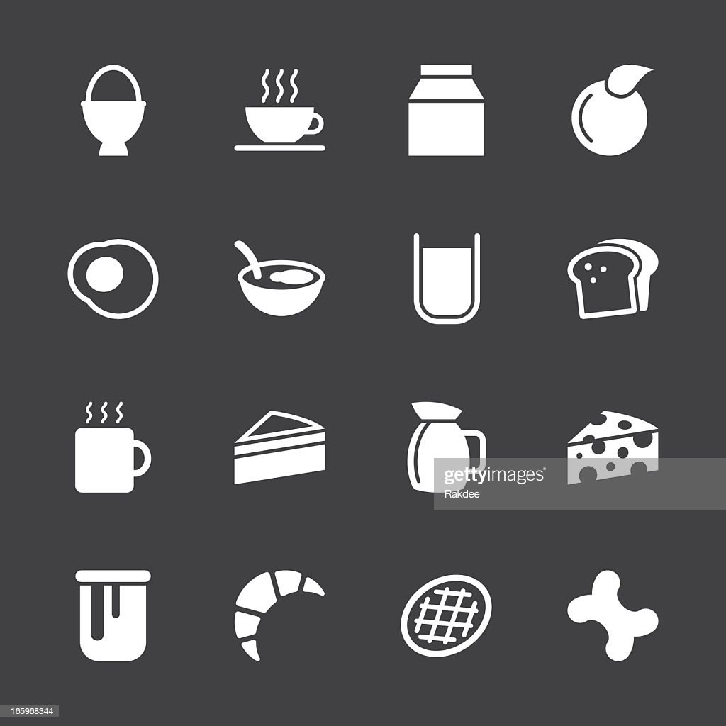 Breakfast Icons - White Series   EPS10 : stock illustration