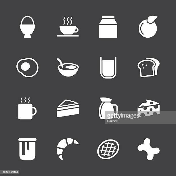 Breakfast Icons - White Series | EPS10