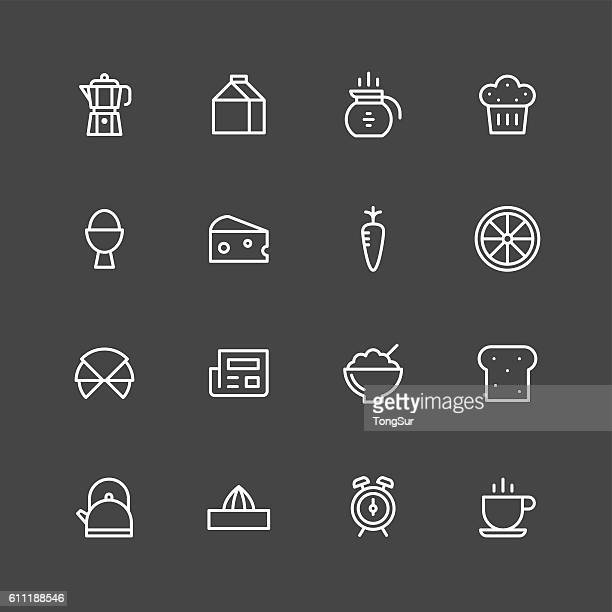 Breakfast icons - White Series