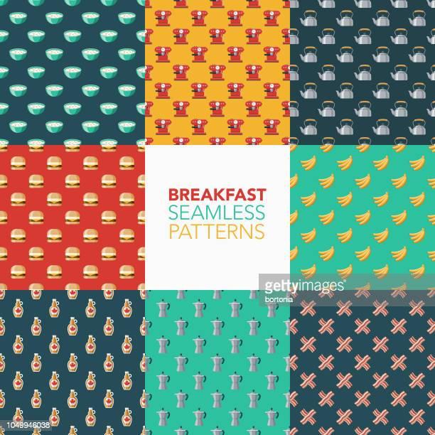 Breakfast Seamless Pattern Set