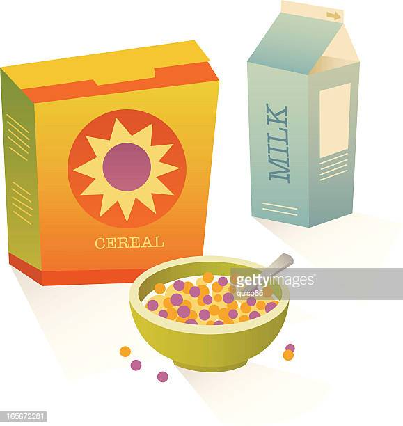breakfast set - breakfast cereal stock illustrations, clip art, cartoons, & icons