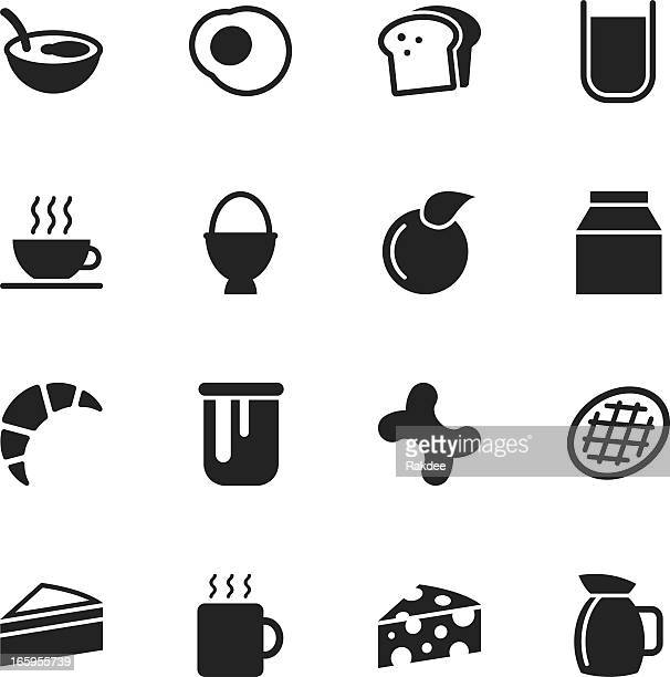 breakfast silhouette icons - marmalade stock illustrations, clip art, cartoons, & icons