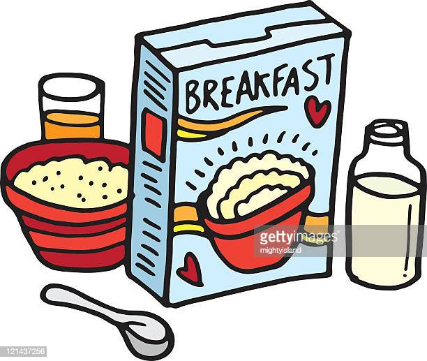 breakfast sketch - breakfast cereal stock illustrations, clip art, cartoons, & icons