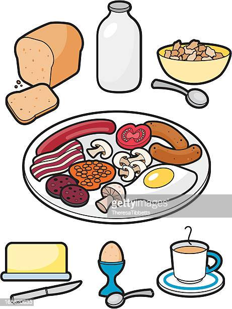 breakfast time - baked beans stock illustrations, clip art, cartoons, & icons
