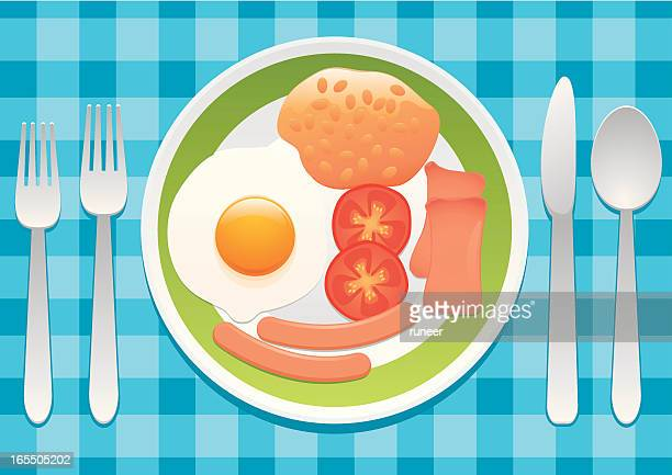breakfast - baked beans stock illustrations, clip art, cartoons, & icons