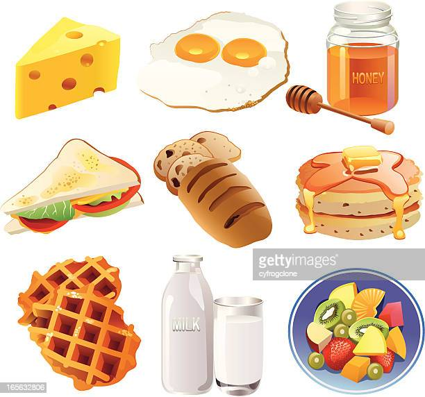 breakfast - toasted sandwich stock illustrations, clip art, cartoons, & icons