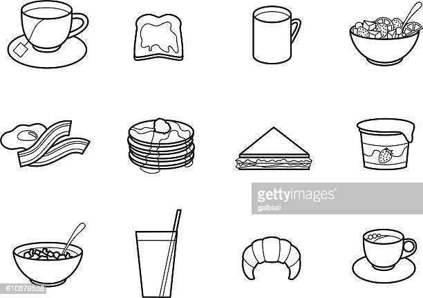 breakfast - breakfast cereal stock illustrations, clip art, cartoons, & icons