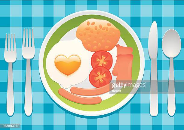 breakfast with love - baked beans stock illustrations, clip art, cartoons, & icons