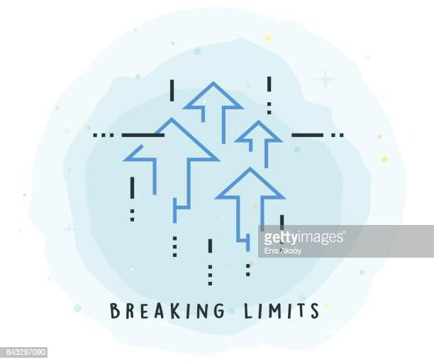 Breaking Limits Icon with Watercolor Patch