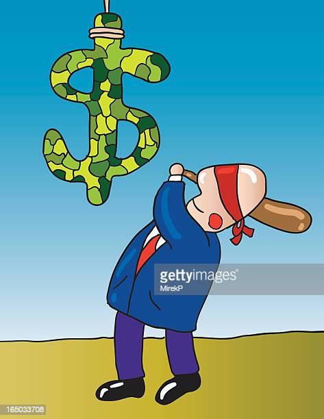 ilustrações, clipart, desenhos animados e ícones de últimas dinheiro pinata - pinata