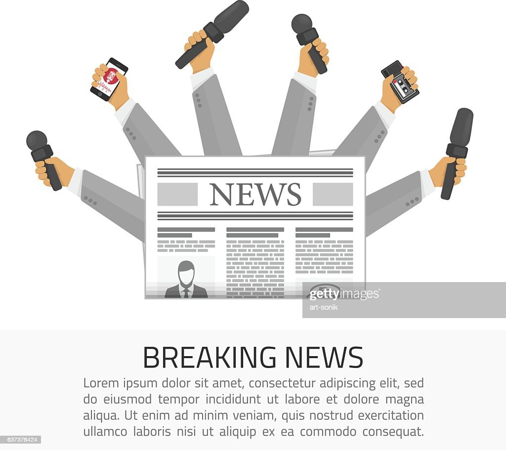 Breaking news illustration.
