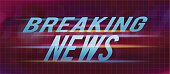 Breaking news title on abstract background