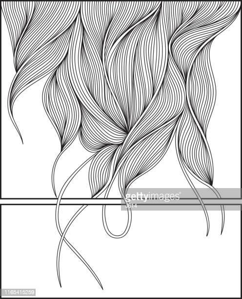 illustrazioni stock, clip art, cartoni animati e icone di tendenza di sfondare - capelli o peli