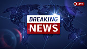 Breaking world news live vector tv background and internet video stream concept