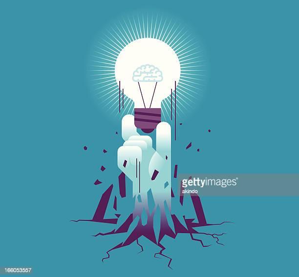 ilustraciones, imágenes clip art, dibujos animados e iconos de stock de avance - emerger