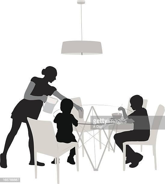 ilustrações de stock, clip art, desenhos animados e ícones de breaky - mesa cafe da manha