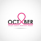 Breast cancer awareness design. Breast cancer awareness month icon.Realistic pink ribbon.