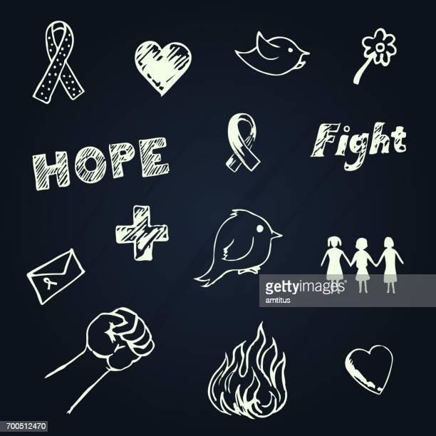 乳房癌意識設計要素 - 社会で使われるシンボルマーク点のイラスト素材/クリップアート素材/マンガ素材/アイコン素材