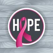 Breast Cancer Awareness Hope Theme Illustration