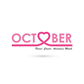 Breast cancer awareness icon design.