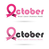 Breast cancer awareness icon design.Breast cancer awareness month icon.