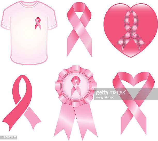 breast cancer awareness icons - all shirts stock illustrations