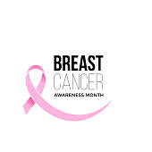 Breast cancer awareness month pink ribbon vector women solidarity symbol icon