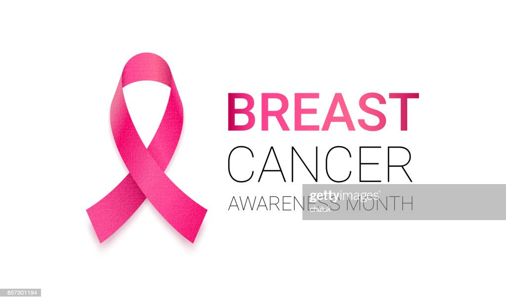 Breast Cancer Awareness Month Pink Ribbon Vector Women Solidarity
