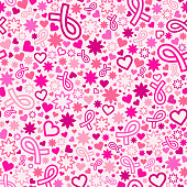 Breast Cancer awareness month seamless pattern