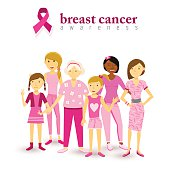 Breast cancer awareness pink women support