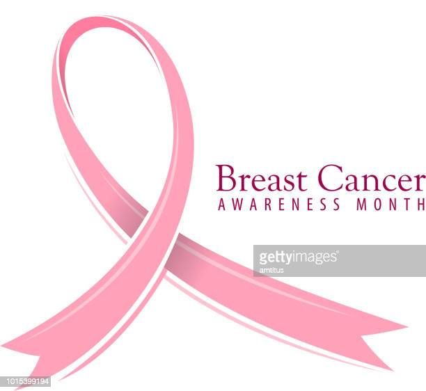 breast cancer awareness ribbon - sensibilisierung für brustkrebs stock-grafiken, -clipart, -cartoons und -symbole