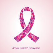 Breast Cancer Awareness Symbol. Design template with  pink ribbon .