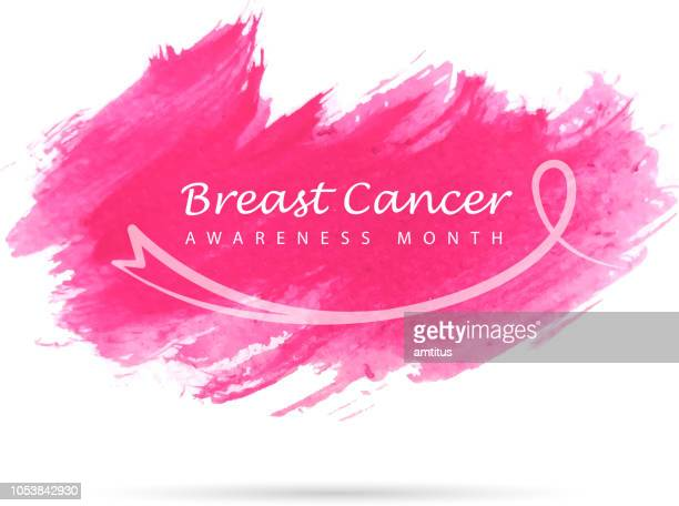 breast cancer awareness - month stock illustrations