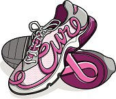 Breast Cancer Awareness walking/running shoes