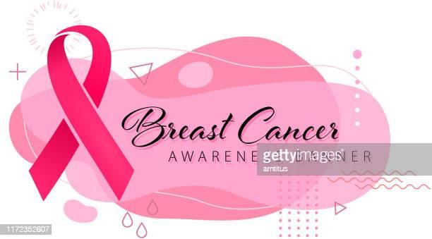 breast cancer banner - october stock illustrations