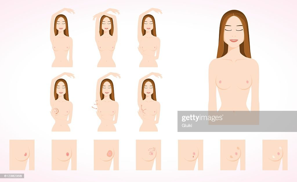Breast cancer monthly examination.