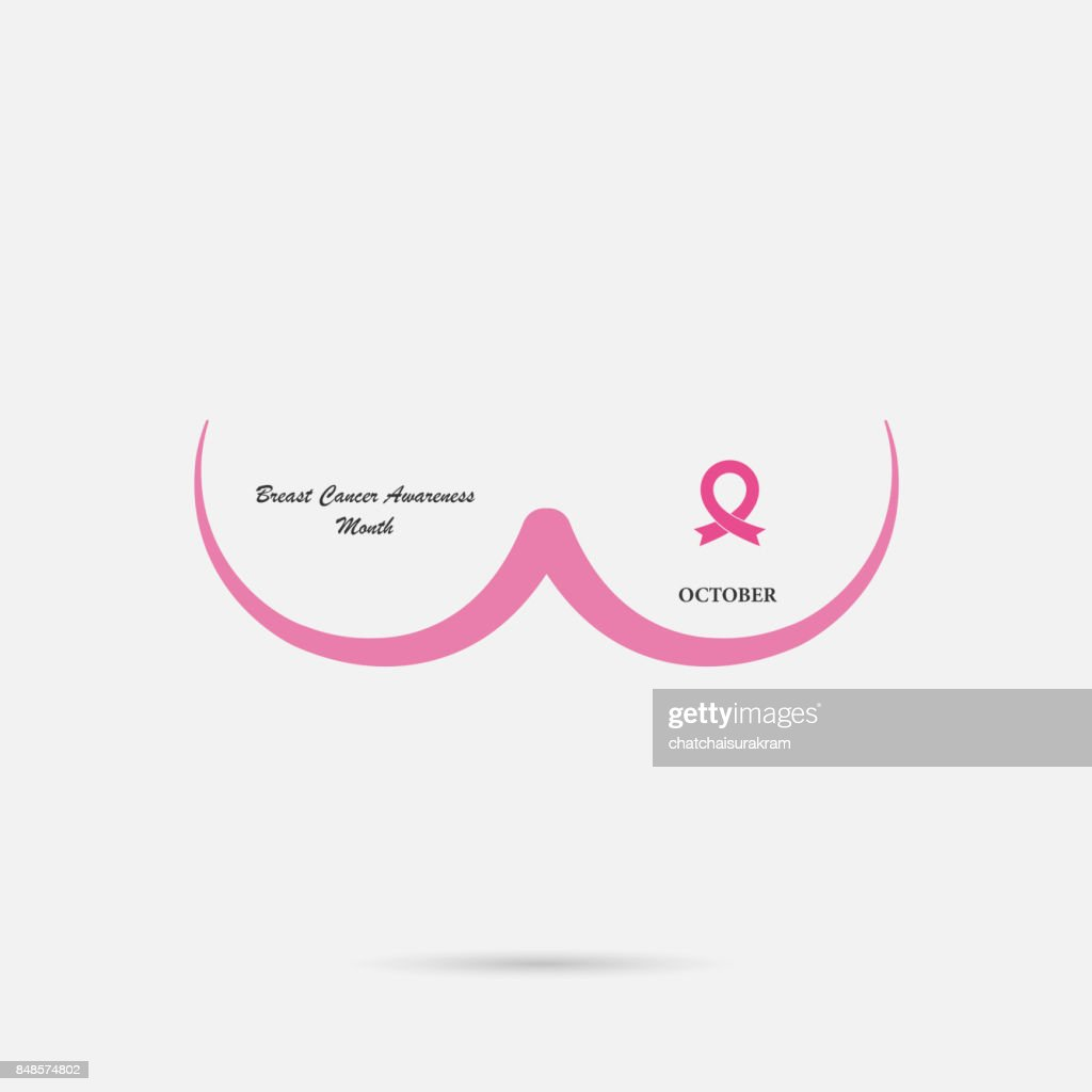 Breast Cancer October Awareness Month Campaign Background.Women health vector design.Breast cancer awareness icon design.Breast cancer awareness month icon.Realistic pink ribbon.