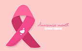 breast cancer pink ribbon origami