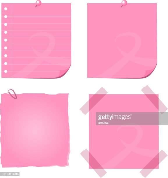 breast cancer post it not - sensibilisierung für brustkrebs stock-grafiken, -clipart, -cartoons und -symbole