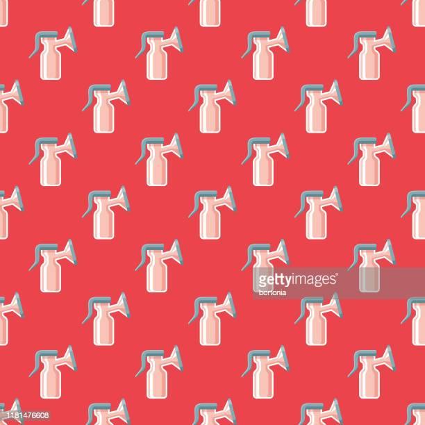 breast pump pregnancy pattern - breast pump stock illustrations
