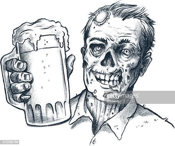 zomb brew! breeewwwwwwwwww - zombie stock illustrations, clip art, cartoons, & icons