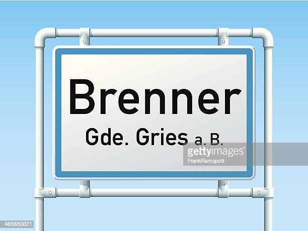 Brenner Österreich City Road Sign
