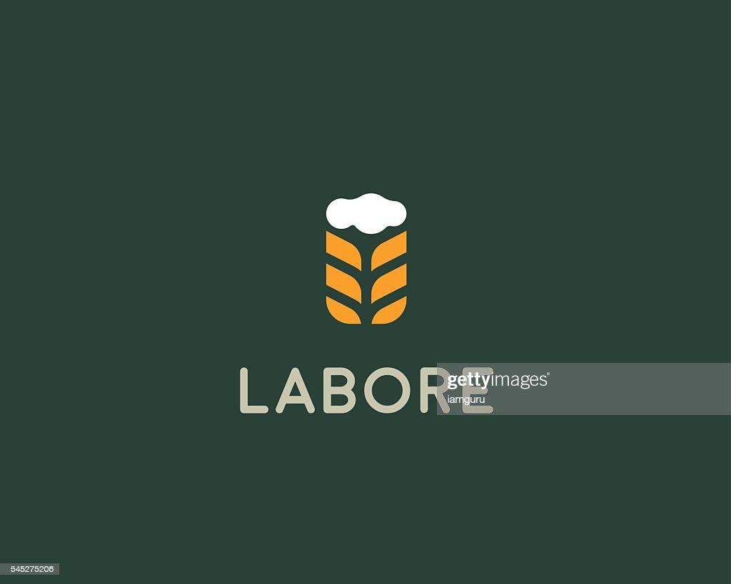 Brewery logotype. Beer vector logo design template. Pub modern symbol