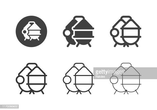 brewery process tank icons - multi series - fermenting stock illustrations