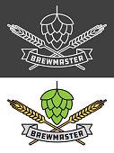 Brewmaster Craft Beer Vector Design