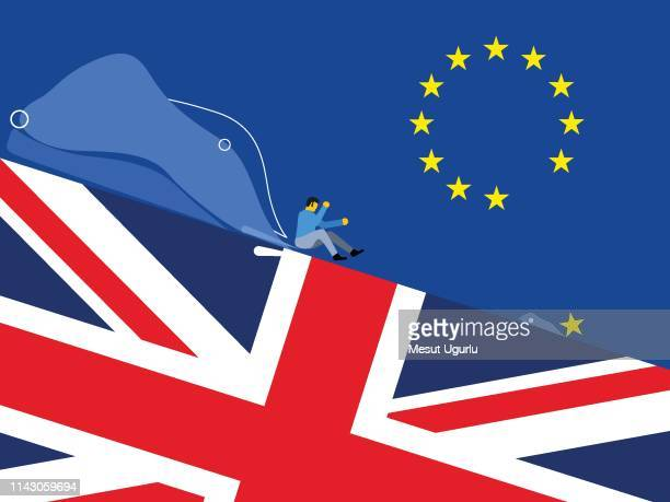 brexit collapse - brexit stock illustrations, clip art, cartoons, & icons