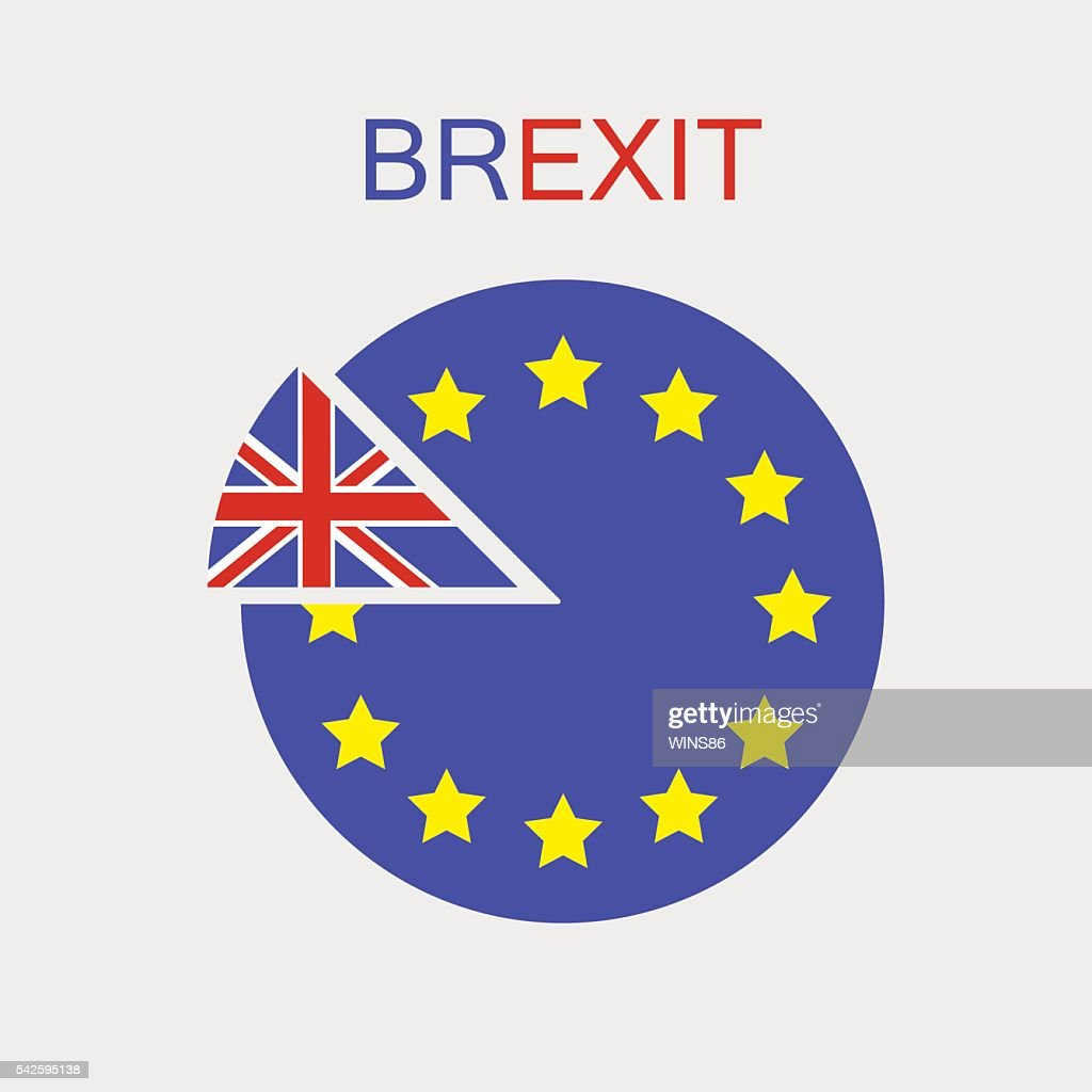 Brexit. UK exit from the EU. Vector. Isolated.