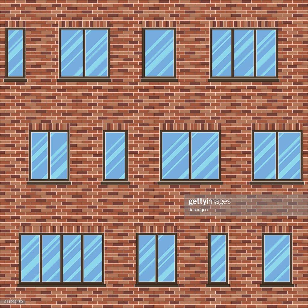 Brick facade pattern 1 color