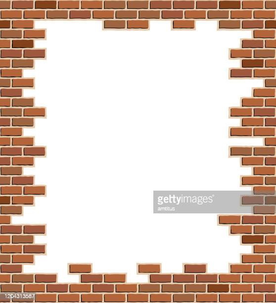 brick frame template - brick stock illustrations